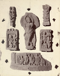 Miscellaneous Buddhist sculptures from Rhode Tope, Sanghao, Peshawar District 10031131